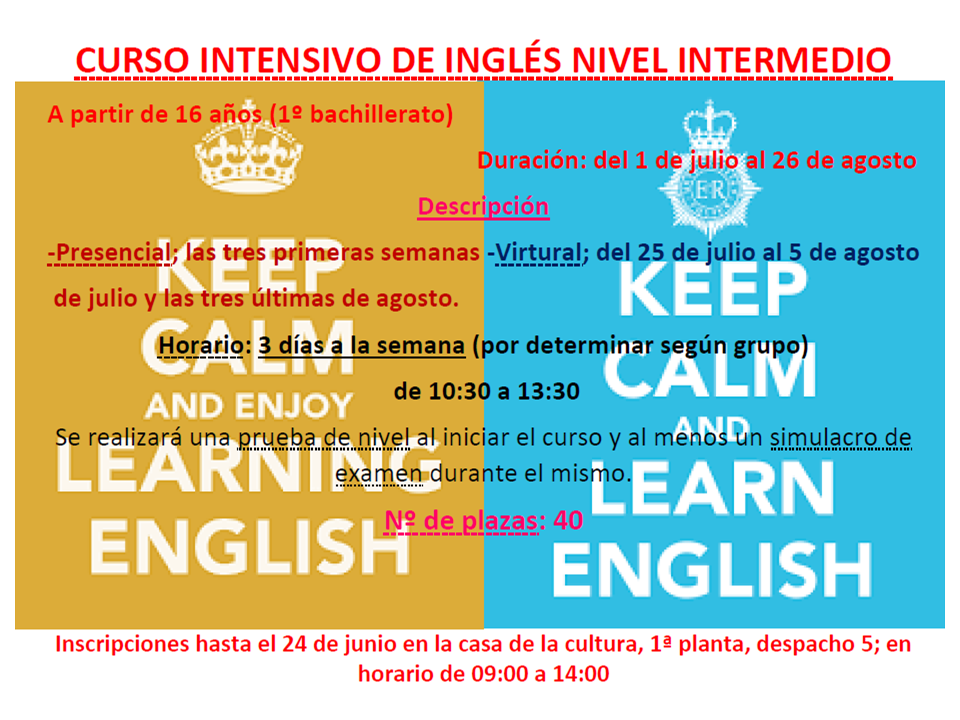 Curso intensivo de inglés nivel intermedio