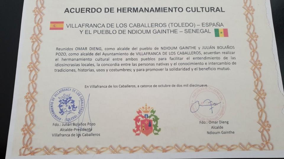 Acuerdo de Hermanamiento Cultural