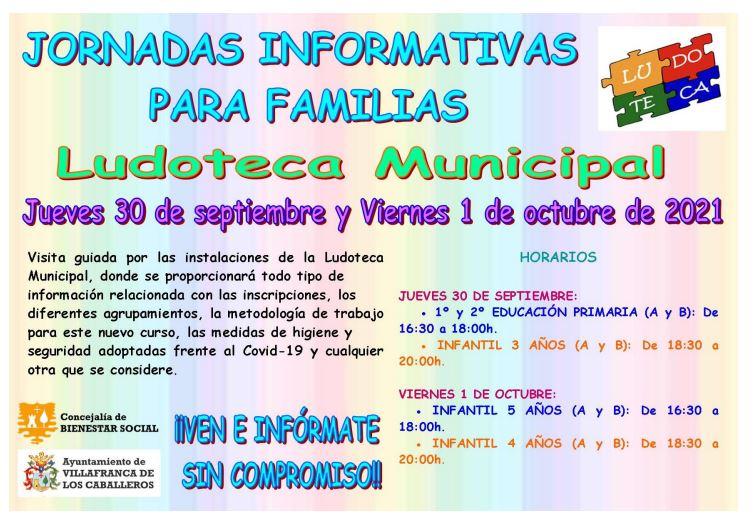 Se abre el plazo de inscripción para la ludoteca municipal - Del 20 de septiembre al 1 de octubre de 2021 (ambos incluisive)